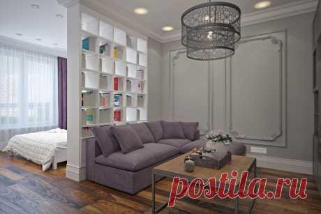 Решение для зонирования однокомнатной квартиры