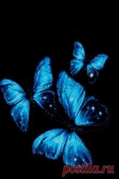 Схема вышивки «Бабочки» - Вышивка крестом