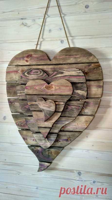 Сердце деревянное в Подарок.Панно – купить в интернет-магазине на Ярмарке Мастеров с доставкой Сердце деревянное в Подарок.Панно - купить или заказать в интернет-магазине на Ярмарке Мастеров | Уникальное ,объёмное панно из четырёх…