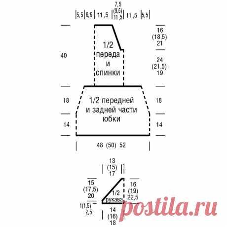 Серебристо-серое платье со шнуровкой - схема вязания спицами. Вяжем Платья на Verena.ru