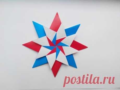 """Звезда оригами """"Carla Mandala Star"""" (Maria Sinayskaya), origami Star"""