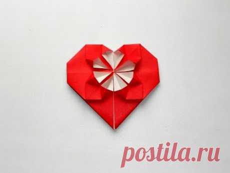 Сердце из бумаги оригами Herz aus Papier Origami-Valentines - YouTube origami paper heart