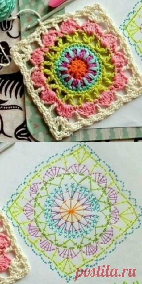 Милые цветочные мотивы, связанные крючком из категории Интересные идеи – Вязаные идеи, идеи для вязания