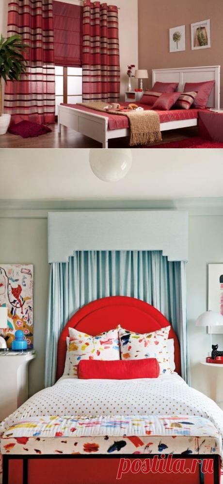 Цвет огня, страсти и опасности в спальне – почему бы и нет?