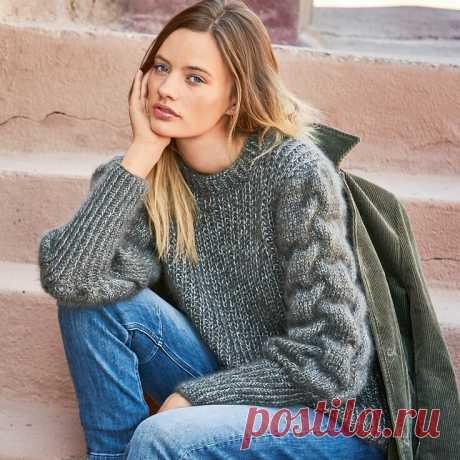 Все дело в рукаве. Вязаные пуловеры с необычными рукавами(схемы и описание) | Svet-line70 | Яндекс Дзен