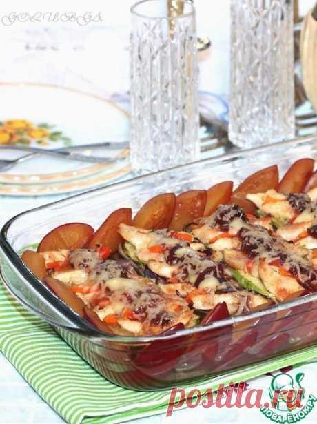 Запеченная курица с овощами со сливовым соусом – кулинарный рецепт