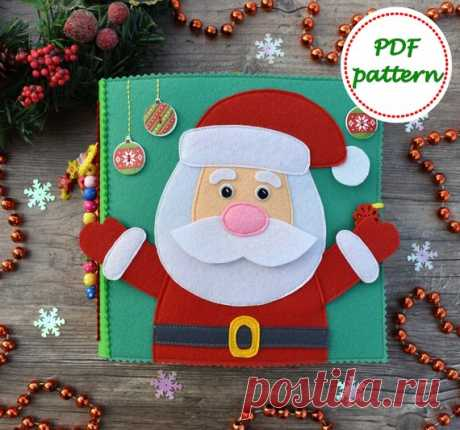 Christmas Quiet Book Pattern Santa Claus Pattern Felt | Etsy