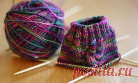 """Knitting for all\u000d\u000aHow to knit a heel \""""heart\"""""""