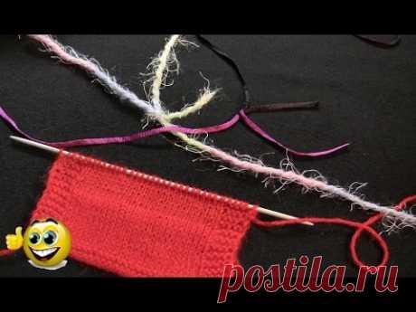 ¡El MINI-NUDO FUERTE o el nudo de tejido! Como unir los hilos a la labor de punto por los rayos. La labor de punto por los rayos