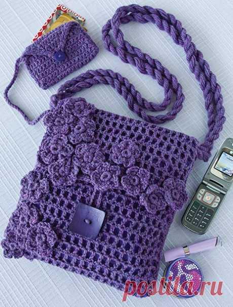 10 красивых кошельков и сумок для вязания крючком - схемы вязания крючком, инструкции,