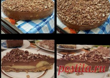 (5) Шоколадно-банановый торт без выпечки - пошаговый рецепт с фото. Автор рецепта Алёна Хегай . - Cookpad