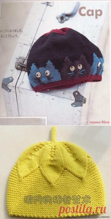 Вязание шапочек для детей.