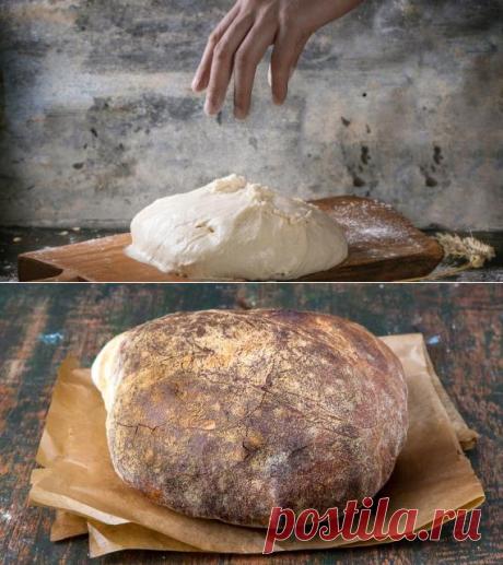 Домашний пшеничный хлеб в стиле slow food