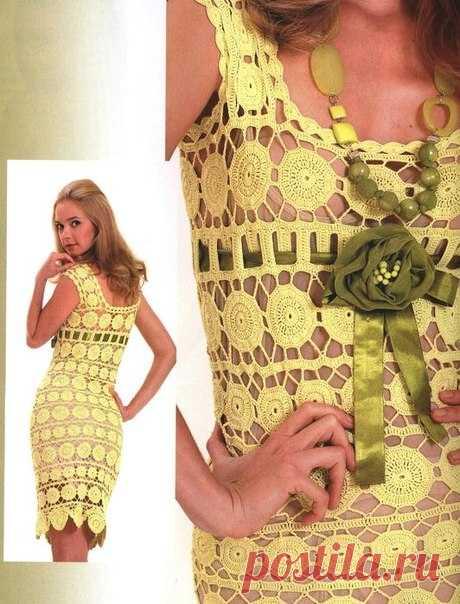 Один узор для платья, жакета и сарафана от Nicol Miller