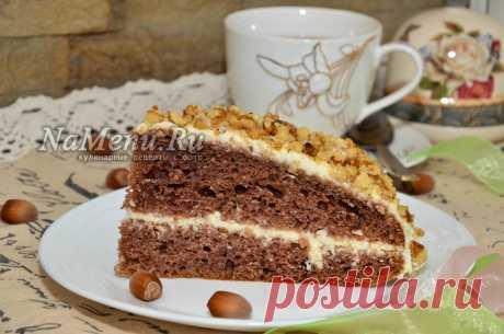 """Шоколадный торт на кефире """"Фантастика"""" Обязательно сохраните себе этот несложный рецепт с фото, по которому вы самостятельно сможете приготовить очень вкусный шоколадный торт на кефире """"Фантастика""""."""