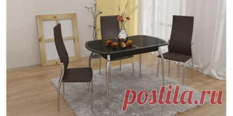 Купить Стол обеденный Монте-Карло (венге/коричневый) в Москве за 14 000 руб.