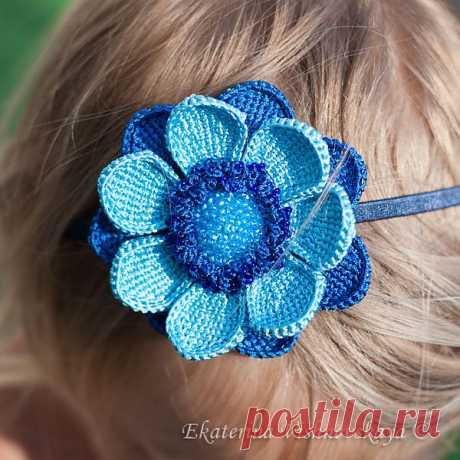 Небесно-голубой цветок | Эксклюзивные вещи ручной работы от Екатерины Вишневской
