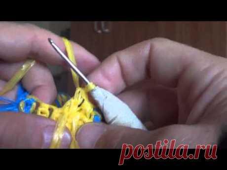 Второй видео-урок по вязанию мочалок с рисунком.