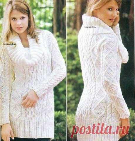 Вяжем пуловер с узорами