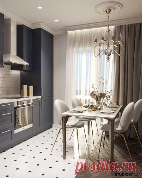 Красивый проект квартиры 😍🍓 от дизайнеров Студия57