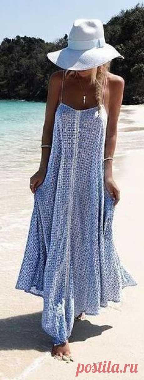 (699) Women Lady Boho Beach Cocktail Evening Party Long Maxi Sundress Dress | Шитье