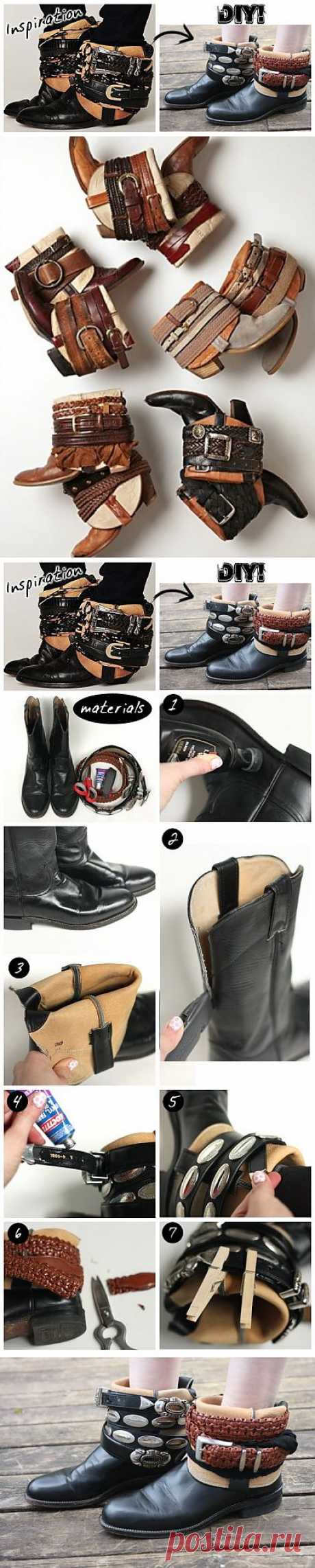 Upgrade of boots (DIY) \/ Footwear \/ the Fashionable website about stylish alteration of clothes and an interior