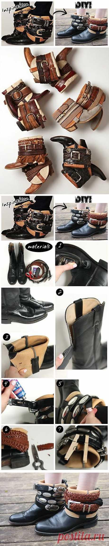 Аппгрейд сапог (DIY) / Обувь / Модный сайт о стильной переделке одежды и интерьера