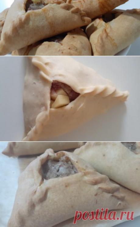 Треугольники с мясом и картошкой (Эчпочмак) | Еда