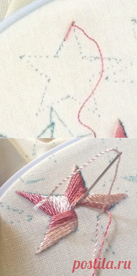 Tutorial Star, Tucker - Dimensional Embroidery