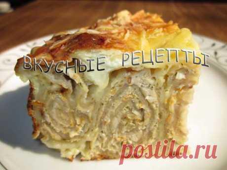 Пирог из лаваша - пошаговый рецепт с фото   Вкусные рецепты