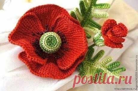 Для вдохновения: цветы крючком