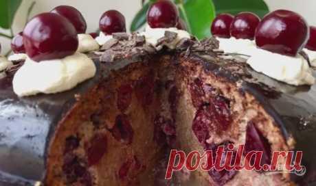 """Торт """"Пьяная вишня"""" (нежный и сочный) - пошаговый рецепт с фото на Повар.ру"""