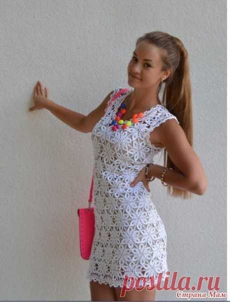 Вязание: платье летние снежинки! nuo OlgaKaramel