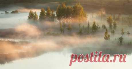 Утро в Изборско-Мальской долине, Псковская область. Автор фото – Роман Дмитриев.