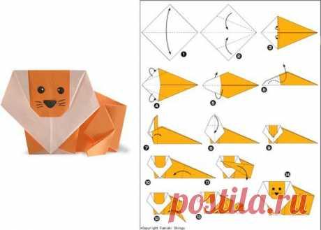 👌 Животные в технике оригами - 15 схем, увлечения и хобби Недавно дочке в садике дали интересное задание — нарисовать, сделать аппликацию или любую поделку в виде животного. Моя дочка очень любит котиков, поэтому сомнений не было — мы реш...