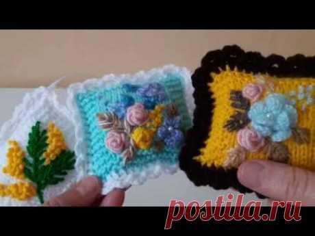 Бразильская вышивка . Игольницы- подушечки бразильской вышивкой .