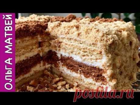 Торт Сметанник Без Выпечки на Скорую Руку. | No-bake Homemade Cake - YouTube