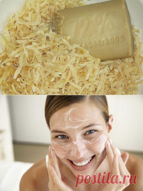 Лечение кожи народным методом с помощью хозяйственного мыла