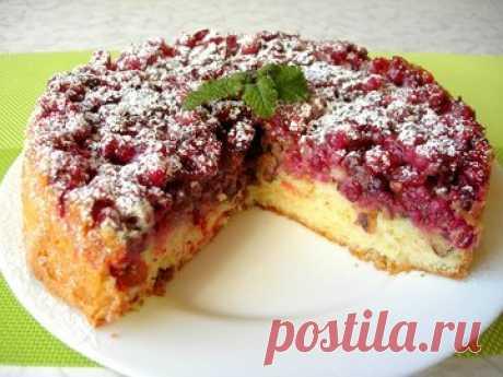 Бостонский клюквенный пирог - простой и вкусный рецепт с пошаговыми фото