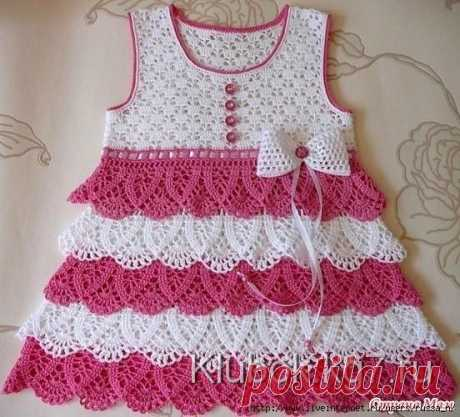 Красивое платье для девочки крючком | Клубок