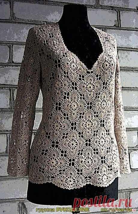 Пуловер для шикарой женщины / Вязание как искусство!