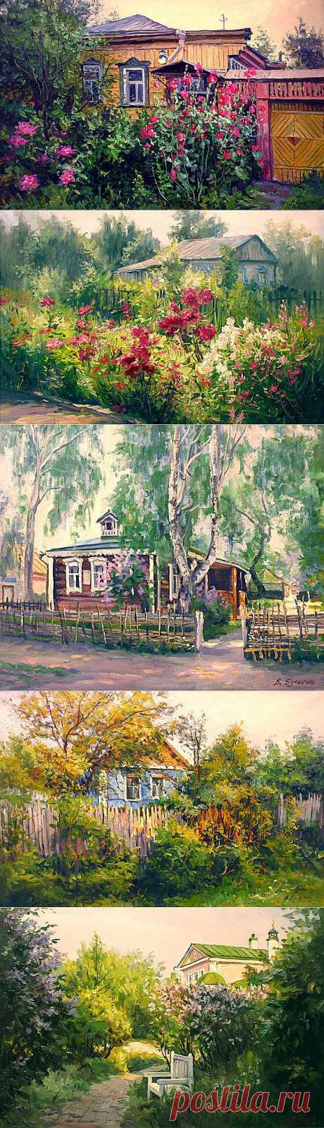 Замечательные деревенские пейзажи Валерия Бусыгина.
