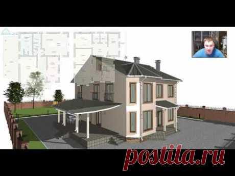 Проект южного двухэтажного дома «Феодосия» E-420-ТП