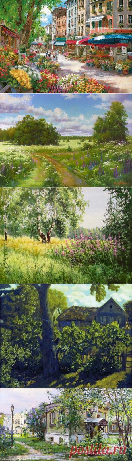 """""""Ох, лето красное! любил бы я тебя..."""" Подборка солнечной живописи   """"Позитив красок"""" Дарьи Орловой   Яндекс Дзен"""