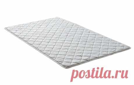 Топпер 110x190x2 см, белый