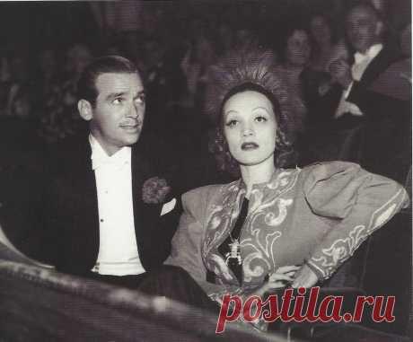 1930. Марлен Дитрих и Дуглас Фэрбенкс-младший в театре