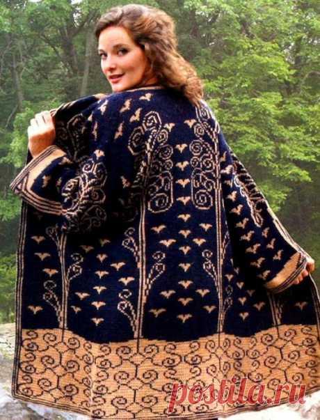 Очень красивое пальто с жаккардовыми узорами — Сделай сам, идеи для творчества - DIY Ideas