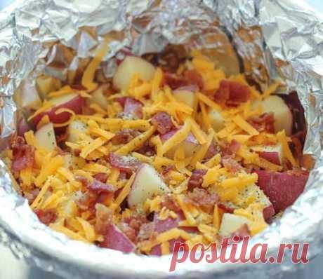 Рецепт картофеля с копченым беконом, от которого слюнки льются ручьем!