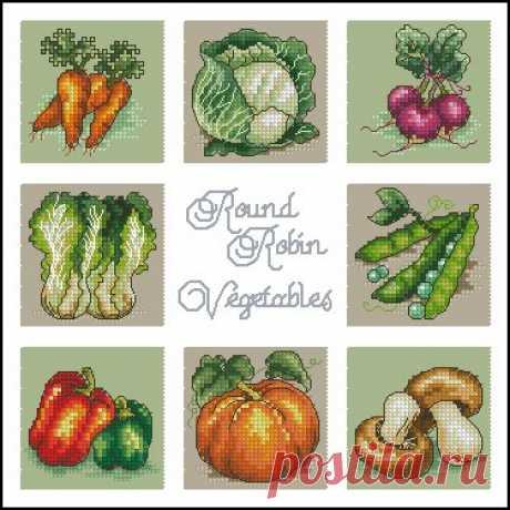 #схемы_вышивки_овощи #схемы_вышивки_кухня