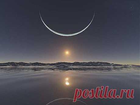 Восход солнца на полюсе